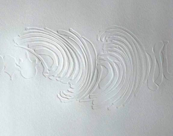 embossed etching on paper
